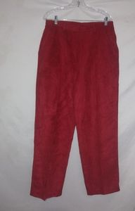 Red Super Soft Suede Look Pants 14 Plus